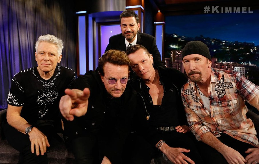 U2start com | U2 on Jimmy Kimmel live